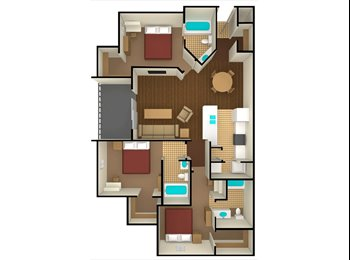 EasyRoommate US - Bedroom for sublease at West 10 - Tallahassee, Tallahassee - $599