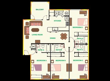 EasyRoommate US - Spring sublease in University Trails - Tallahassee, Tallahassee - $485