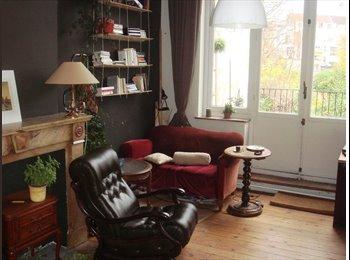 Appartager BE - Belle chambre lumineuse avec énorme balcon - Ixelles-Elsene, Bruxelles-Brussel - €450