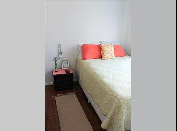 EasyQuarto BR - Quarto confortável em apt amplo e tranquilo - Laranjeiras, Rio de Janeiro (Capital) - R$1600