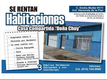 CompartoDepa MX - RENTO HABITACIONES COMPARTIDAS, INCLUYE SERVICIOS. - Chihuahua, Chihuahua - MX$1400