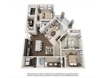 EasyRoommate US - 3 bedroom 2 bath $555 a month - Crestline, Birmingham - $555