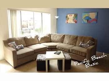 EasyRoommate US - Furnished shared room in Pacific Beach - Pacific Beach, San Diego - $635