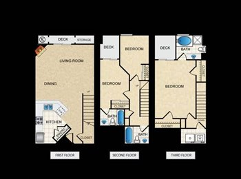 EasyRoommate US - $800 Master suite w/bath in quiet townhouse! - Los Angeles, Los Angeles - $800