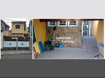 EasyQuarto BR - divido casa/sobrado paraventi c/garagem 2 carros - Guarulhos, RM - Grande São Paulo - R$800