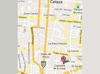 CompartoDepa MX - Dpto. Amueblado en Celaya, Gto. Para señoritas - Guanajuato, Guanajuato - MX$3600