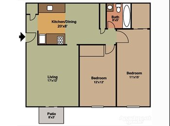 EasyRoommate US - Room avail in 2BR near Maumee. 300 incl utilities. - Toledo, Toledo - $300