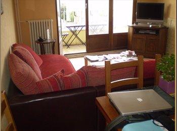 Chambre meublée dans appart avec grands balcons