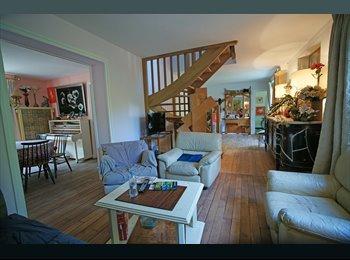 big bedroom with bathroom, big house, Saint-Cloud.