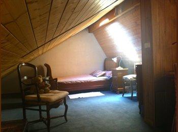 Appartager FR - studio mansardé  (chambre et espace bureau) - Ville-la-Grand, Annemasse - €560