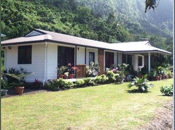 Appartager FR - CHAMBRE SPACIEUSE AVEC SALLE DE BAIN - Papara, Polynésie Française - €500