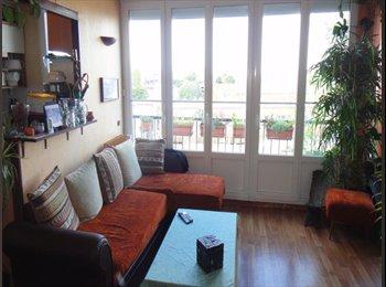 3 pers(85m2 duplex) apartment close Paris to share
