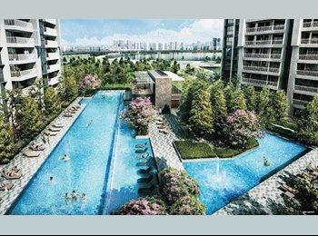 Common/Master room to rent ,1min to MRT,new Condo