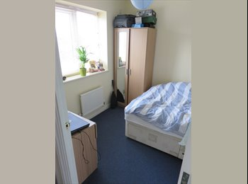 Single furnished bedroom with double bed