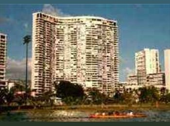 EasyRoommate US - AWESOME Waikiki views Beautiful building 3bed/2ba - Oahu, Oahu - $1200