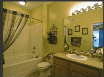 Room for rent with private bathroom in gated community !