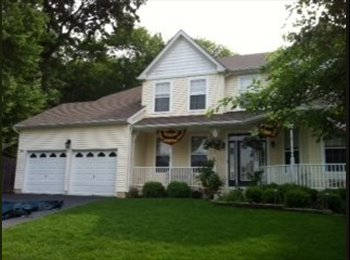 EasyRoommate US - 10x12 room with private bath in 10yr old house - Hamilton, Central Jersey - $650