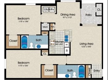 Large Room in Centreville- Short Term Lease