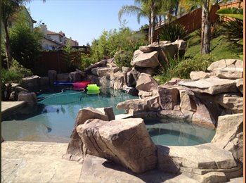 Furnished room in beautiful pool home in area!