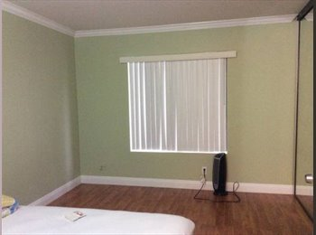 Newly painted/ Laminate floor Master Bedroom