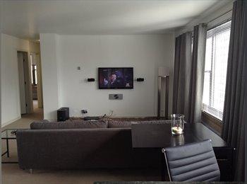 Room for rent in modern furnished apt