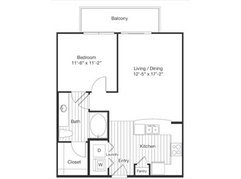 One bed room apartment $680