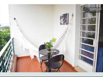 EasyQuarto BR - 2 Great Rooms in awesome neighbourhood - Pinheiros, São Paulo capital - R$1900