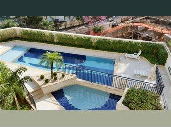 EasyQuarto BR - Quarto em apartamento de 84m quadrados no Morumbi - Morumbi, São Paulo capital - R$1400