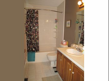 Large furnished sunny room & full bath for rent