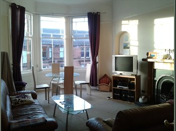Room to let in relaxed and friendly flat, Hyndland