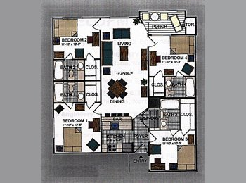 EasyRoommate US - 6 month sublet in Raleigh minutes from NCSU - Raleigh, Raleigh - $410