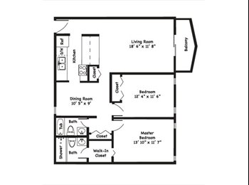EasyRoommate US - Master Bedroom and Private bath - Miami, Miami - $700