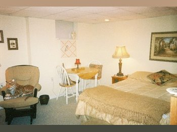 Available LARGE FURNISHED BEDROOM with BATH.