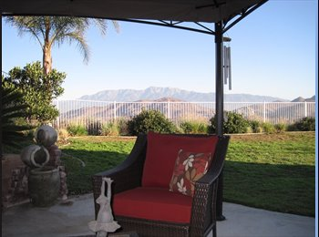 EasyRoommate US - 2 Rooms Avail in LARGE SERENE HILLSIDE HOME -Gated - Riverside, Southeast California - $600