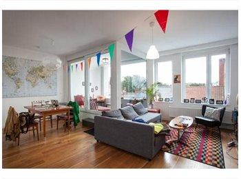 EasyKot EK - kamer in groot tweekamerappartement/loft met terra - Diamant - Stadspark, Antwerpen-Anvers - €400
