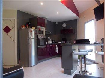 Nantes SUD coloc'90 m2 : 4 chambres privées