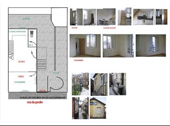 Appartager FR - pavillon 3 chambres +studio pour collocation - La Courneuve, Paris - Ile De France - €1600