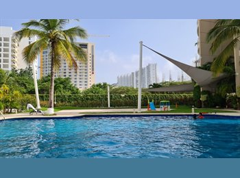 """CompartoDepa MX - Looking for Roommate Modern Luxurious APARTMENT in CANCUN at  """"EL TABLE"""" - Cancún, Cancún - MX$5900"""