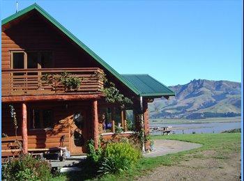 NZ - Log house at Teddington - Governors Bay, Christchurch - $200