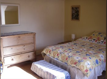Spacious furnished attic room in Victorian house