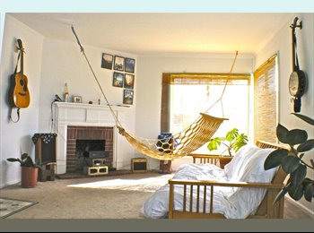 Bright Airy Room In Sunset