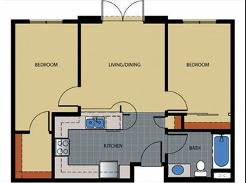 EasyRoommate US - 1650 / 2br - 1 Bdrm Sublet in 2 Bdrm Apt Dtwn Bkly - Berkeley, Oakland Area - $1650