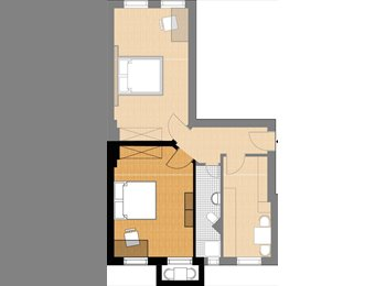 EasyWG DE - 1 ca.20 qm Zimmer in 2 er WG - Mariendorf, Berlin - €400