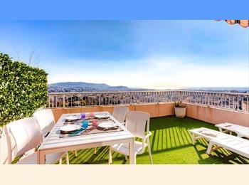 Appartager FR - Chambre à louer, vue exceptionnelle, calme absolu - Nord Centre Nice, Nice - €450