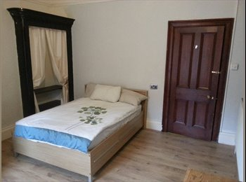 single bedroom in large house.