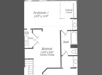 EasyRoommate US - Entire 3rd fl TH for rent GAITHERSBURG - Gaithersburg, Other-Maryland - $1000