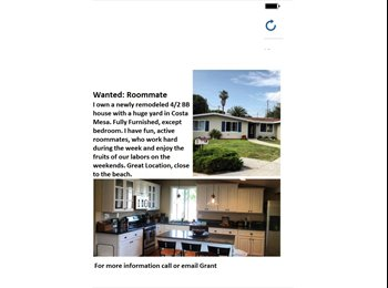 EasyRoommate US - Room for Rent/Great Location - Costa Mesa, Orange County - $825