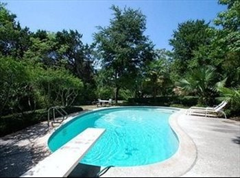 Room for rent in a private wooded 5 acre lot in the city...