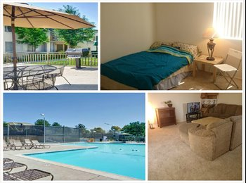 Room in great apt with access to pool, gym, etc