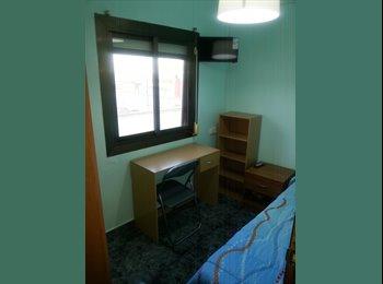 Habitación individual equipada y amueblada nueva